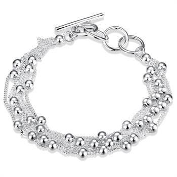 Venta al por mayor - Venta al por menor precio más bajo regalo de Navidad, envío gratis, nueva pulsera de plata 925 yB101