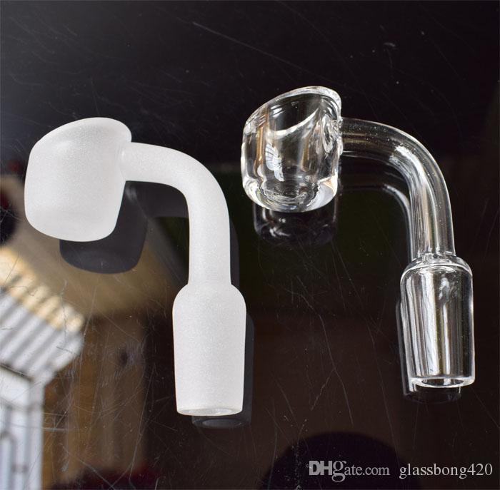4mm dick Quart bangers domeless Quarz Nägel männlich weiblich 10mm 14mm 18mm für Ölplattformen Glasbongs Quarz banger Nagel Honig Eimer