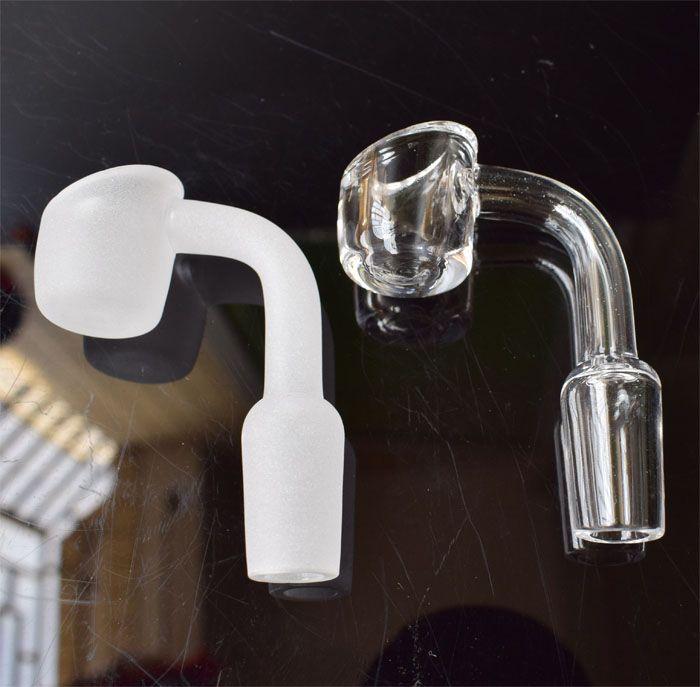 4mm thick quart bangers domeless quartz nails male female 10mm 14mm 18mm for oil rigs glass bongs quartz banger nail honey buckets