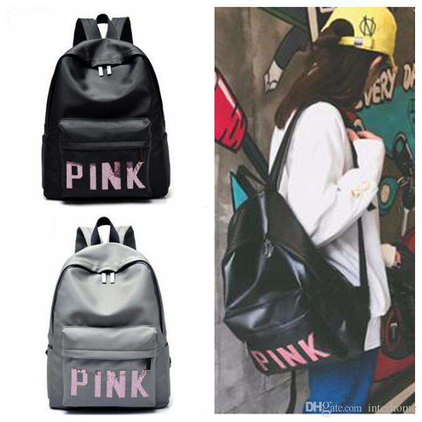 Women Pink Sequins Backpack Pink VS Sequin Book Bag ...