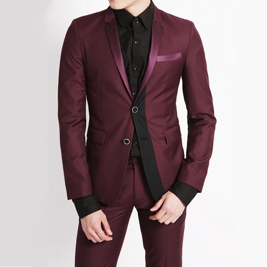 0cc2ceaeb9989 Compre Al Por Mayor Trajes De Hombres De Vestir Los Mejores Trajes Para  Hombre Slim Fit Tuxedo Vestido De Moda Novio Padrino De Boda Hombres Blazer  Novio ...