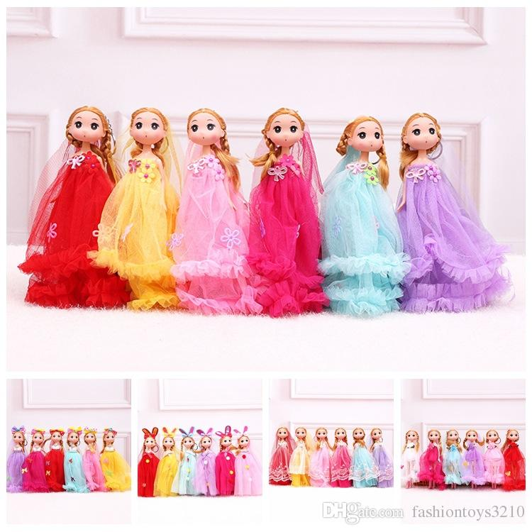 Hot selling Cute Wedding Dress Ddung Doll Keychain Pendant Fashion Popular 25CM Gum Dolls Girl Toys good Christmas gifts for girl Plush Toys