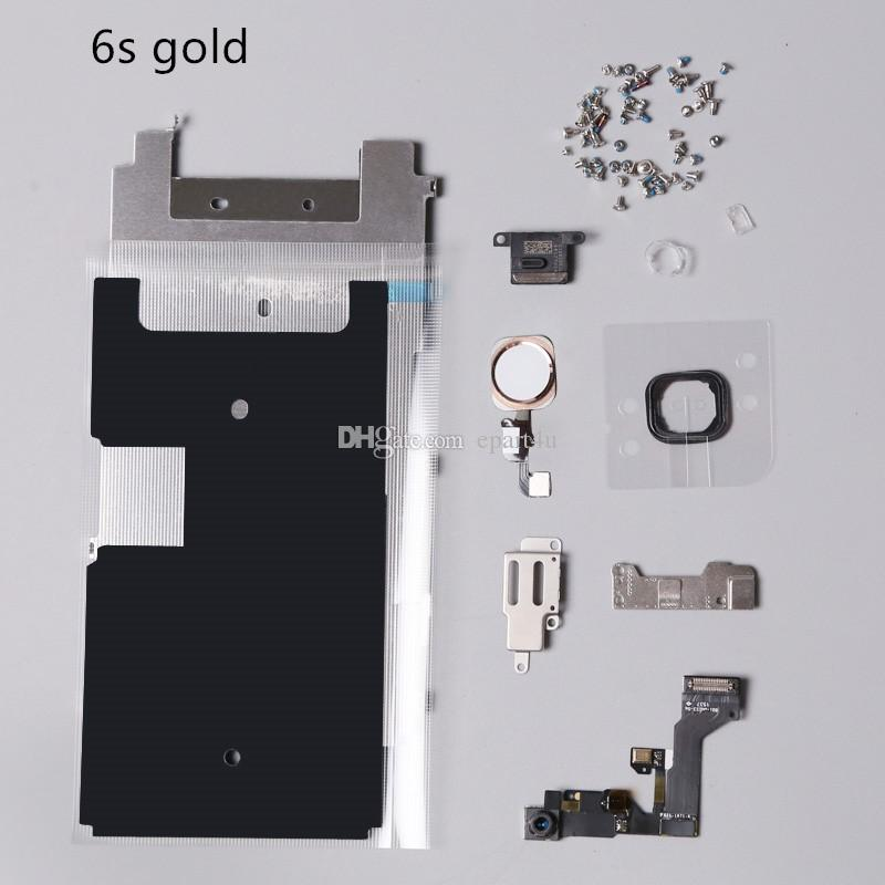 Full Set Repair Parts For iphone 6S 4.7 inch Plus 5.5 inch LCD Display Parts home button, camera, speaker, flex, Gasket Rubber ,screws parts