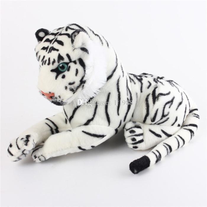 2019 cute plush white snow tiger toys stuffed dolls animals pillows