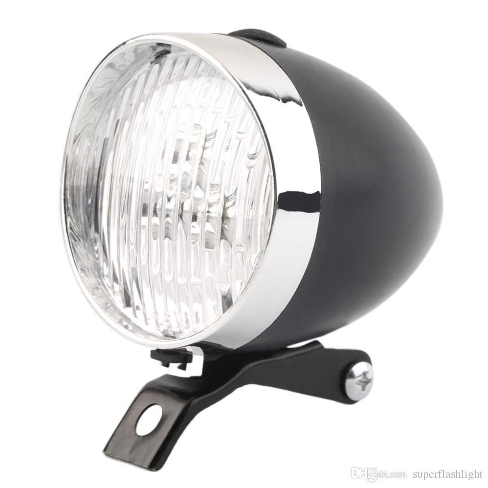 Retro Fahrrad Fahrrad 3 LED Frontlicht Scheinwerfer Vintage Taschenlampe Lampe Zwei Arten von Flash-Modus BLL_00R