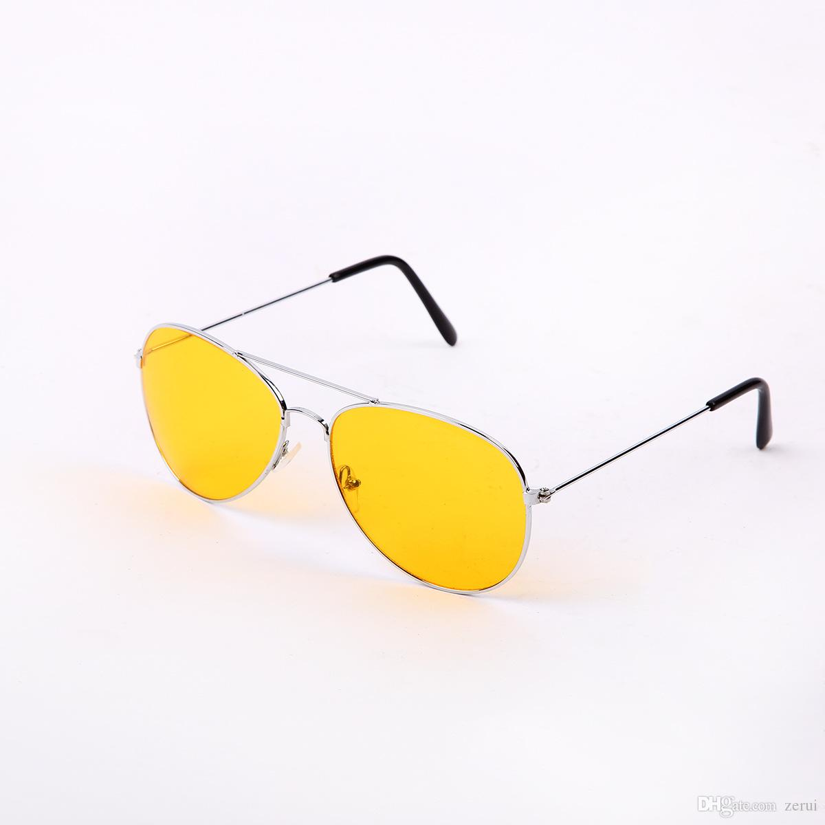 f4bf00cd732 New Women Mens Polarized Night Driving Sunglasses Men Brand Designer Yellow  Lens Night Vision Driving Glasses Goggles Reduce Glare Spitfire Sunglasses  ...