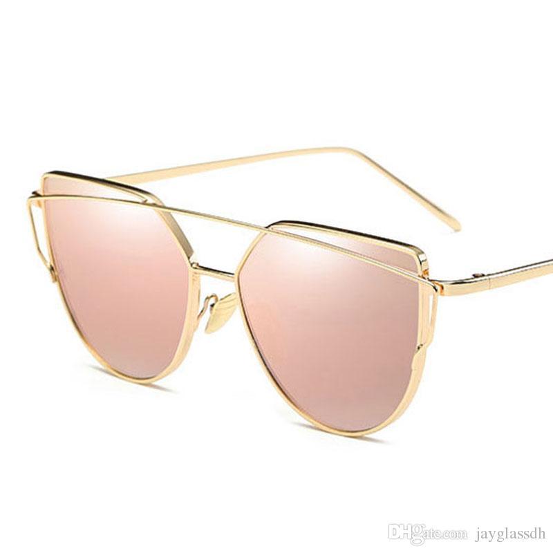 e33819c5bb 2019 Best Hot Fashion Brand Sunglasses Colorful For Women Glasses Cat Eye  Sun Glasses Male Mirror Pink Sunglasses Men Female Vintage Super Sunglasses  ...