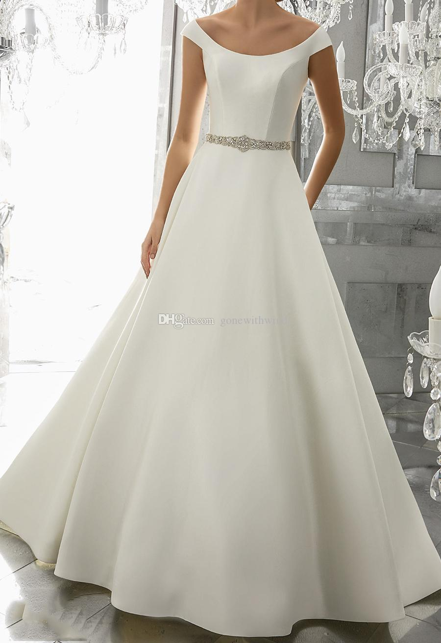 Fashion week Plain Classic wedding dresses pictures for woman