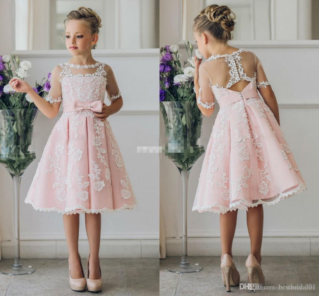 Cheap short flower girl dresses for bohemia beach wedding for Dresses for wedding for kids