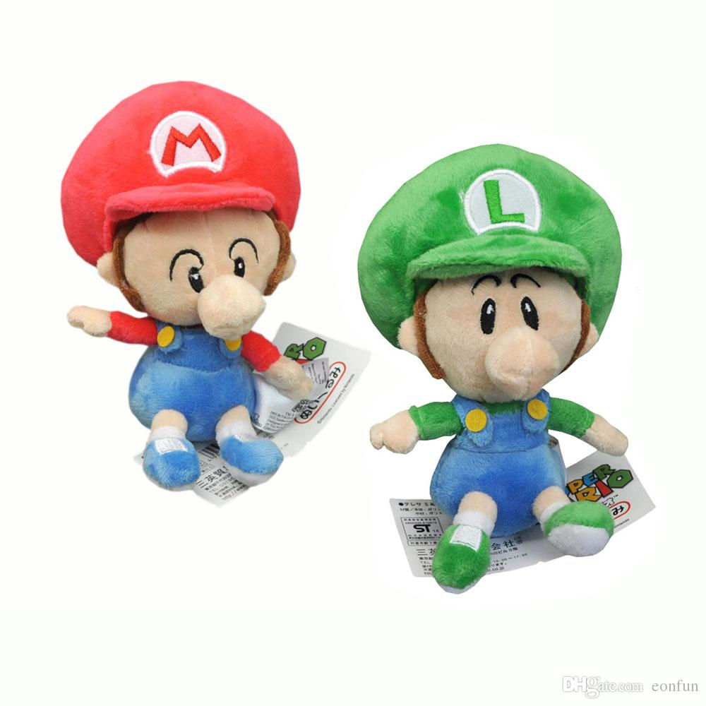 2018 new fun 2 styles 6 mario baby luigi baby plush doll anime collectible super mario bros dolls gifts soft stuffed toys from eonfun 426 dhgatecom