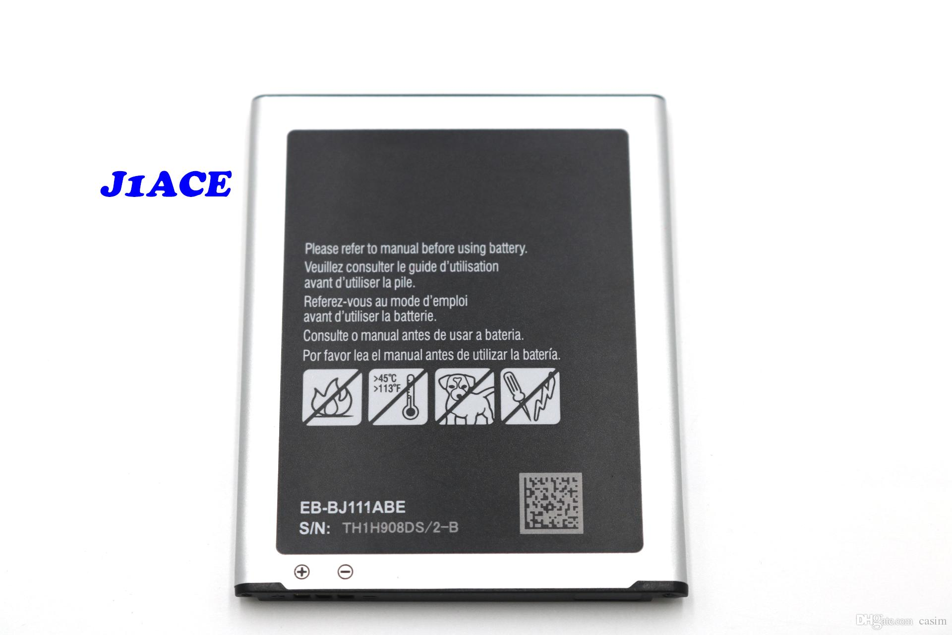 Yüksek kaliteli cep telefonu batarya tedarikçisi J111 pil, samsung Galaxy J1ACE / J110 / J120 pil Akku