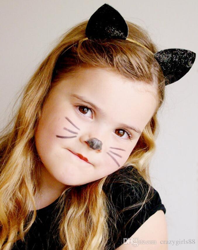Kinder Mode Katzenohren Stirnbänder Mädchen Baby Haarband Nette Kinder Haar Stöcke Cosplay Haarband Kopfschmuck