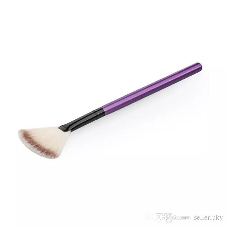 Cepillo de ventilador suave portátil Slim profesional cepillo de maquillaje pequeños cepillos de base de tamaño con diferentes colores envío libre de DHL