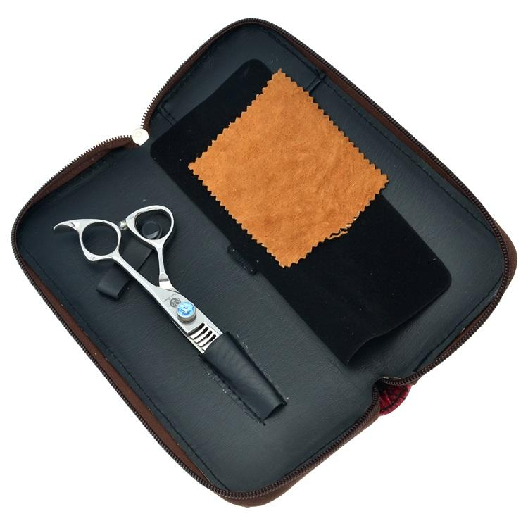 6.0Inch Purple Dragon 18 Teeth New Arrival Thinning Scissors Human Hair Barber Scissors for Barber JP440C Barber Salon Tools, LZS0315