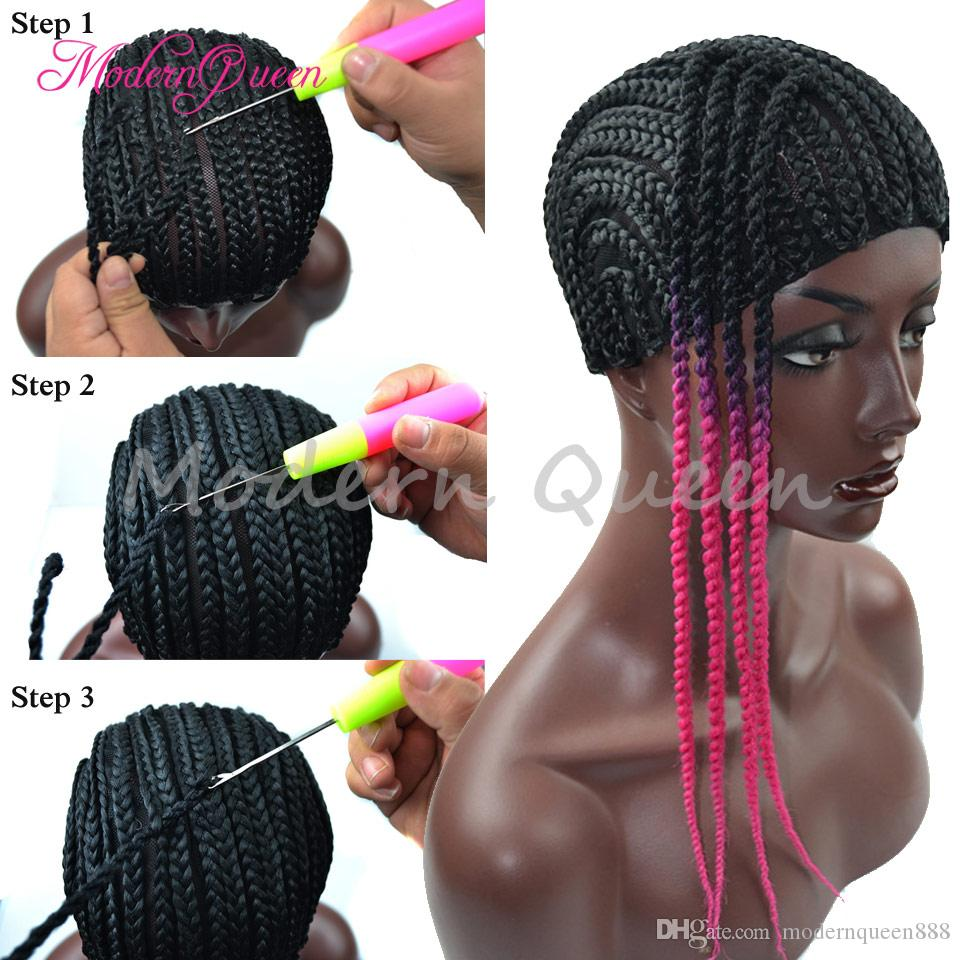 Wholesale Fashion Cornrow Wig Caps For Making Wigs With Combs