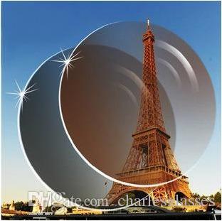 العدسات اللونية المخصصة ، عدسات راتنج الأشعة فوق البنفسجية شبه كروية رقيقة للغاية لقصر النظر باللون الرمادي والبني