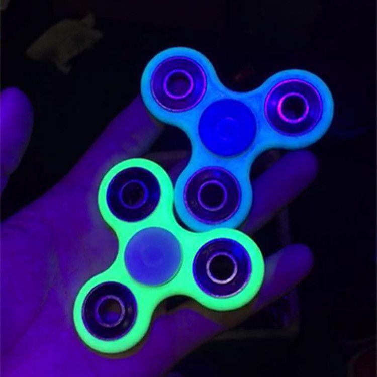 Luminous Hand Spinner Fingertips Spiral Fingers EDC Gyro Torqbar
