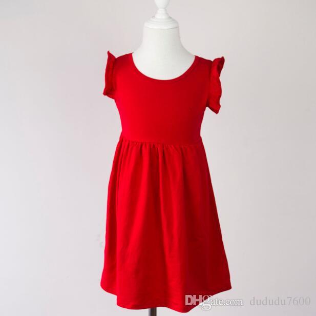 0fa7ad4b5 Hot Sale Frock Design for Baby Girls Cotton Flutter Sleeveless Dress ...