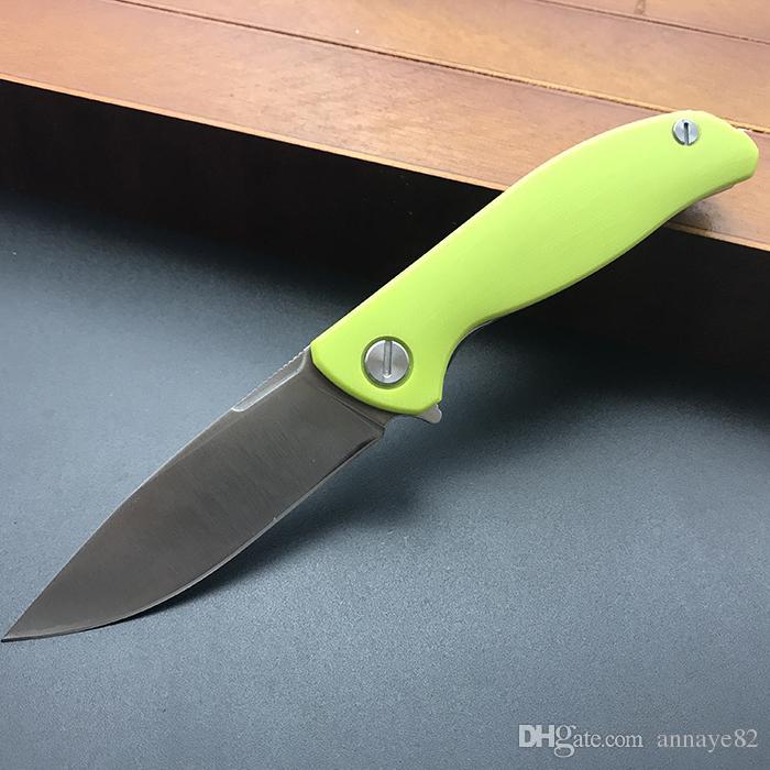 bearhead droppoint 440C stonewashed сатин G10 Флиппер шарикоподшипник F3 быстрый открытый EDC инструменты Охота выживания тактические складные карманные ножи