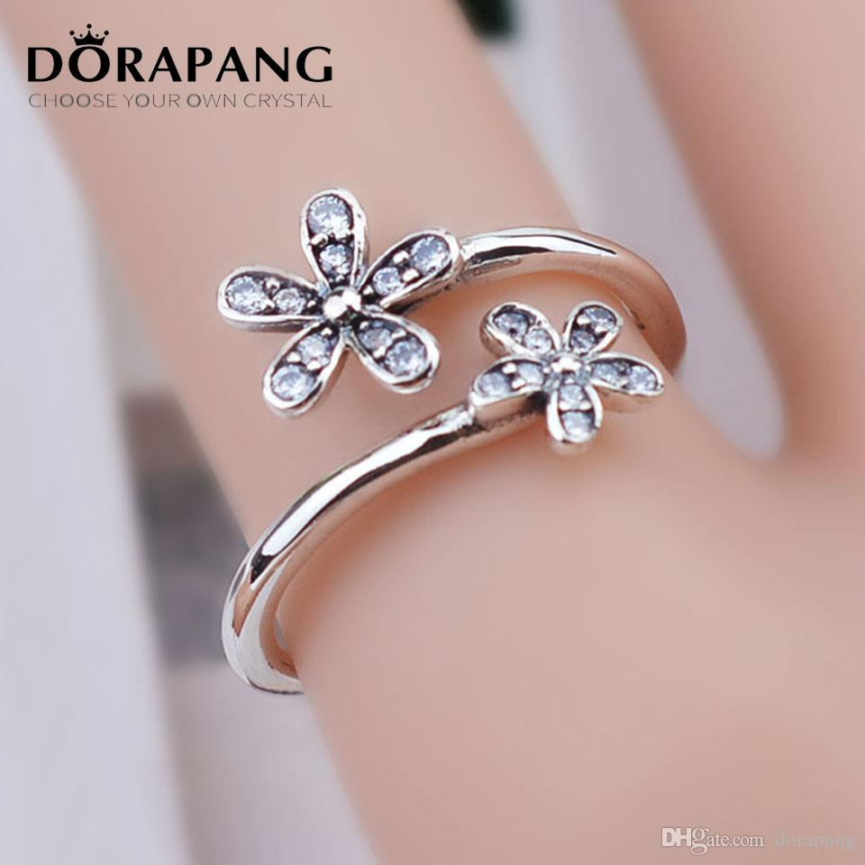 DORAPANG Authentic 100% 925 Sterling Silver Ring For European ...