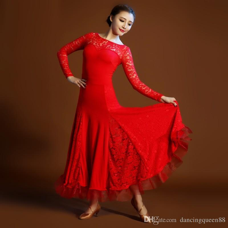 Acheter Robe De Flamenco Rouge Costume De Danse Espagnole Costume De