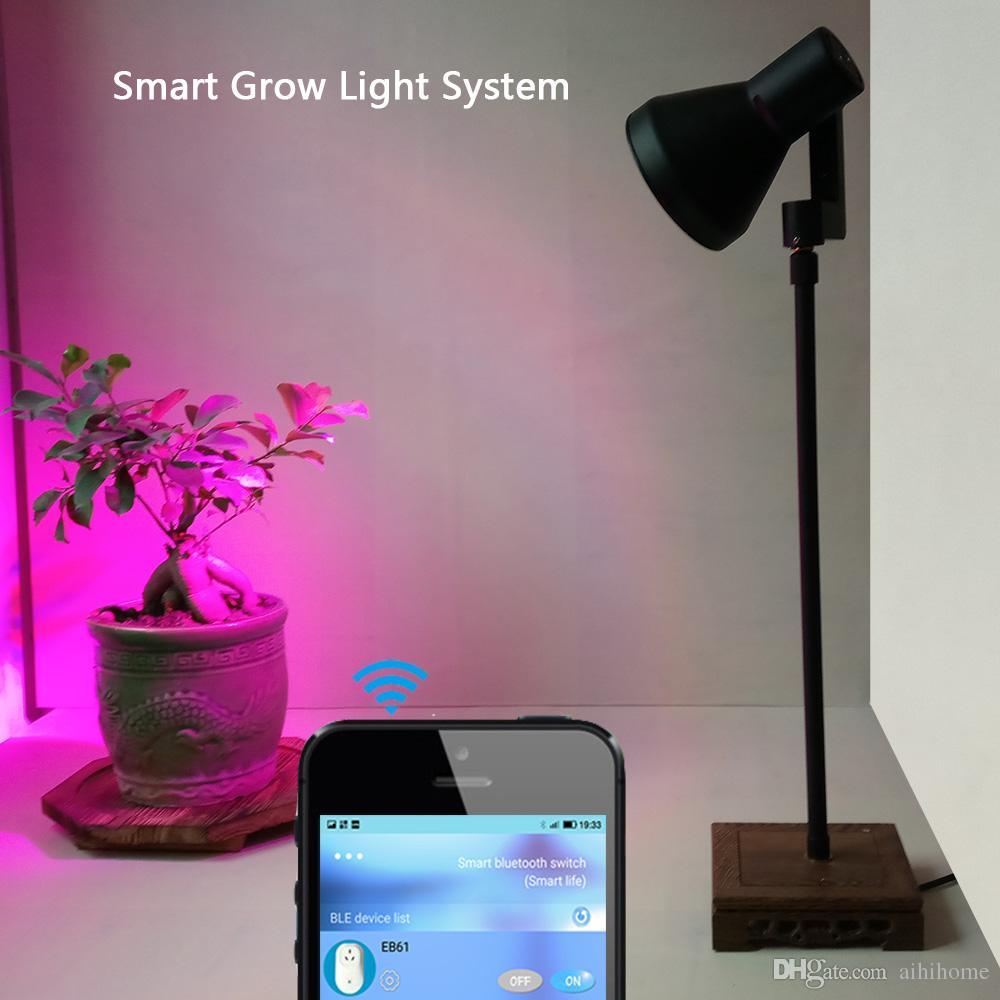 smart 10w led plant grow lights stand desk with bluetooth timer switch automatic work for home indoor plants indoor grow equipment fluorescent grow light