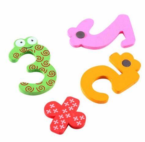Çocuk Eğitim DIY Oyuncak dijital renk ahşap buzdolabı rakamlar mıknatıslar / Memo Sticker,
