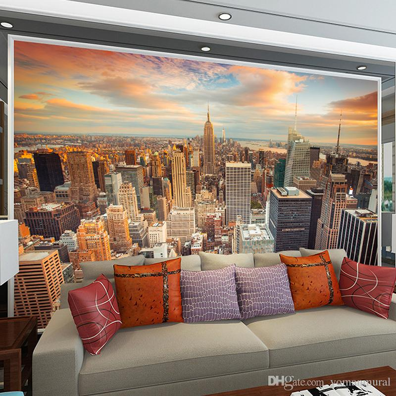 Custom 3d Wallpaper City Evening Landscape Background Sofa Bedroom Tv Tower  In New York Canvas Wall Mural Hd Wallpaper I Hd Wallpaper Images From  Yomanmural ...