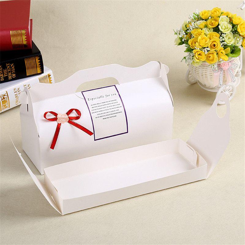 27.5x10.5x7.5cm long DIY wedding cake packing box, portable cake box, long biscuit, lotus roll boxs LZ0759