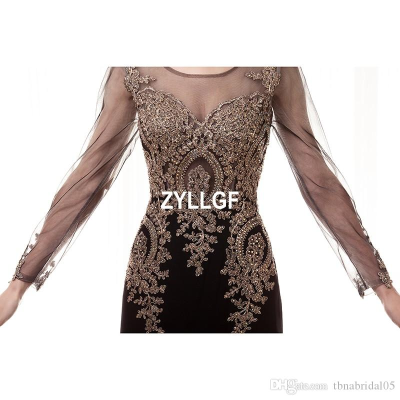 New Arrival Hot Sales Transparent Flower Pattern Back Transparent Evening Dresses Plus size New Arrival Hot Sales Formal Gown Robe De Soiree