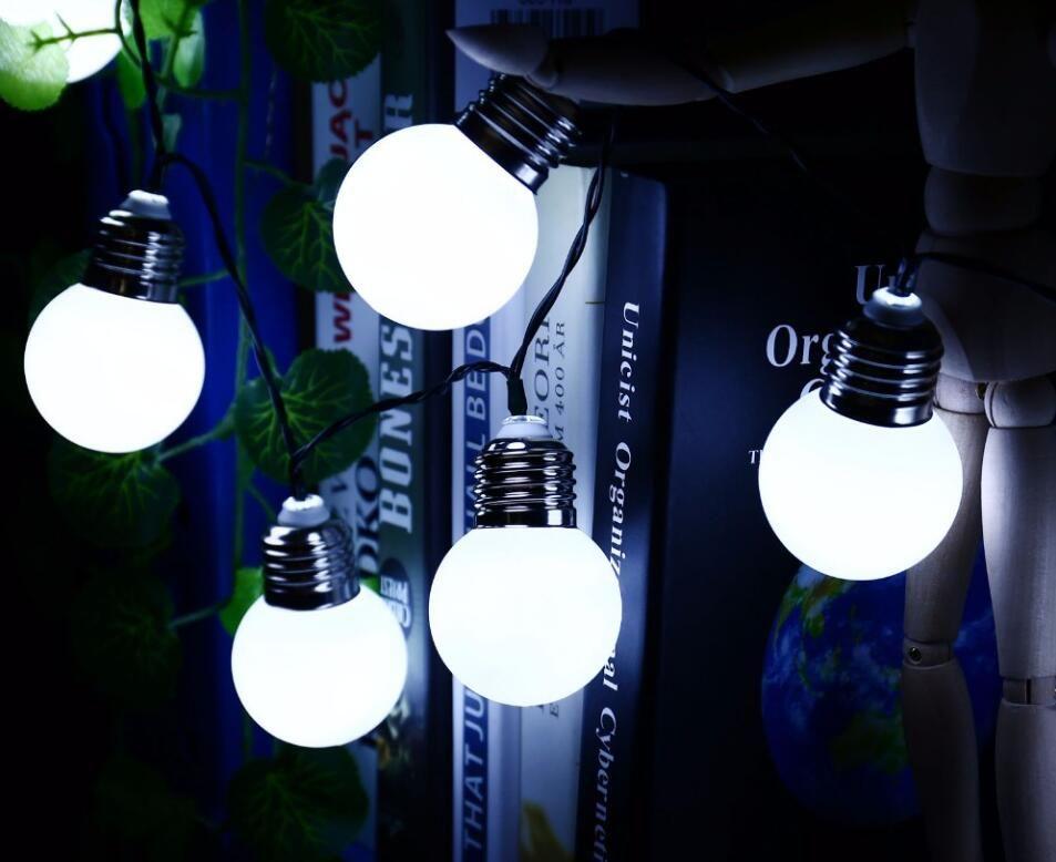 4M 20 G45 Bulbs Solar Powered Outdoor Waterproof String Light Decorative Lighting String for Garden Patio Festival lantern Lamp