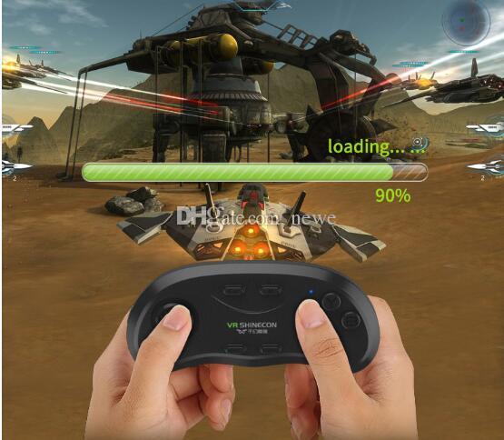 Accessoires de Jeux Chauds Original Bluetooth Télécommande VR Shinecon Sans Fil Gamepads Souris Musique Selfie Jeux 3D pour iOS Android PC TV