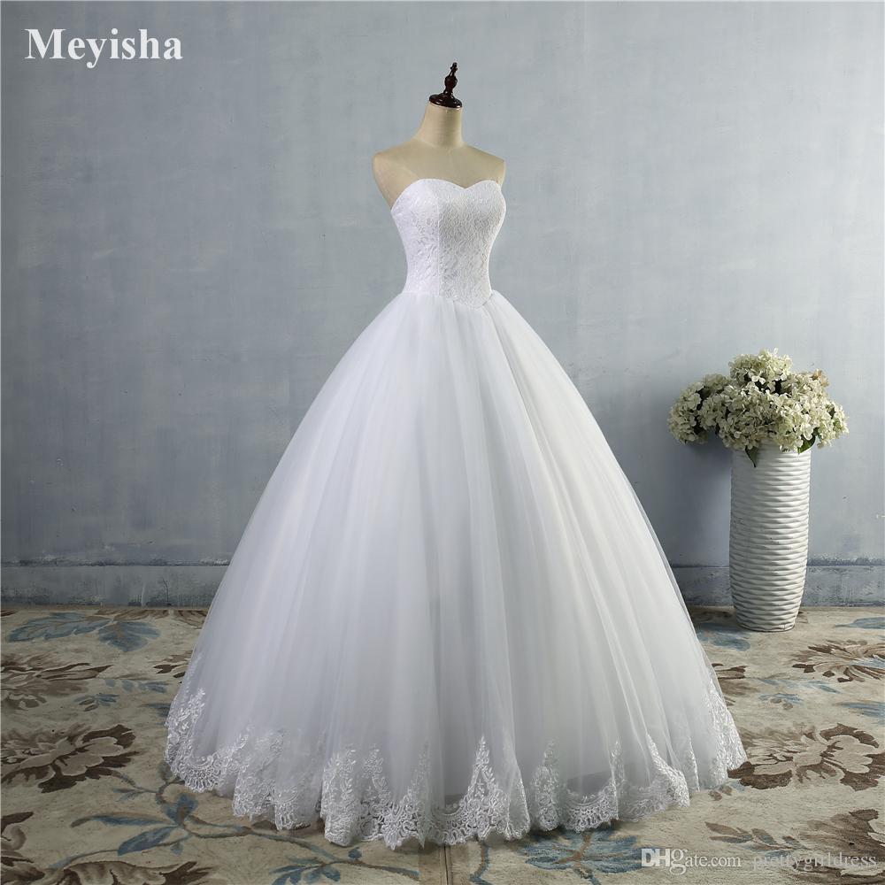 ZJ9014 2019 Кружева белого цвета слоновой кости свадебные платья Fromal платье невесты платье кружева снизу плюс размер 2-28 Вт