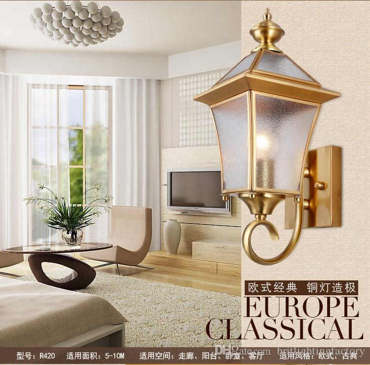 2018 Vintage Bronze Waterproof Led Exterior Wall Lamp Lights Bedroom ...