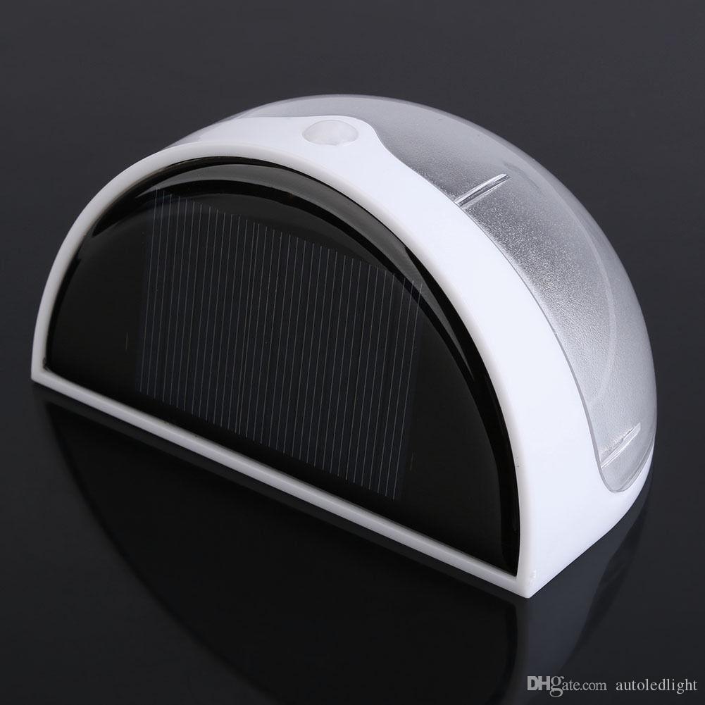 Solar Power 6 LED Light Sensor Fence Roof Gutter Outdoor Garden Wall Lamp Lights Home Stair Waterproof Bulb