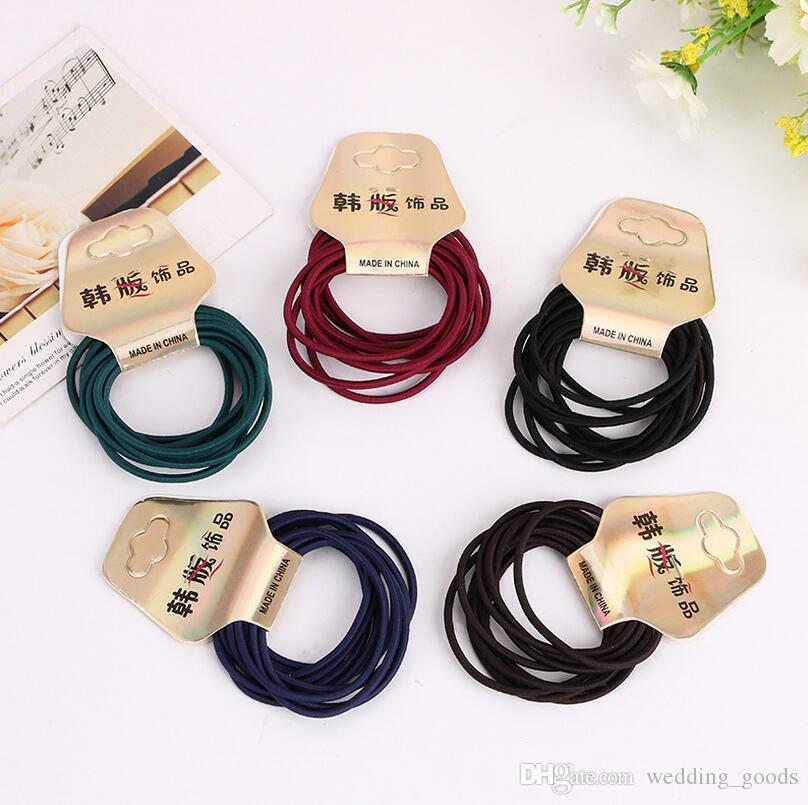 Free shipping Belt hot candy color hair ring head rope high elastic seamless rope FQ002 mix order 100 1set=10 pieces