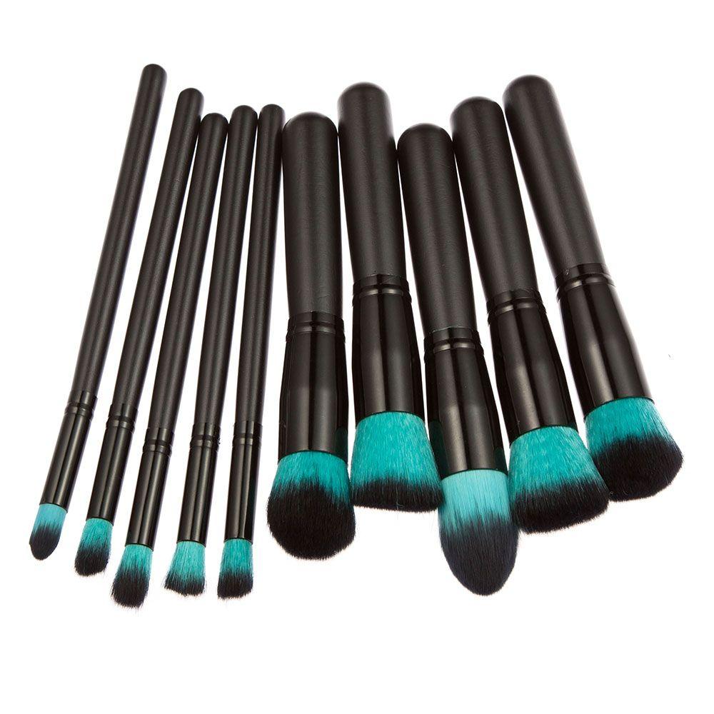 makeup brushes set. professional 10pcs makeup brush set powder foundation eyebrow eyeshadow cosmetic make up tools toiletry kit for women brushes