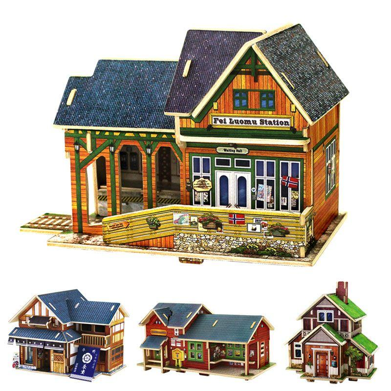 2018 3d Wooden House Models Construction Puzzle Craft Diy Children Fun  Building Toy Hot From Kepiwell7, $16.39 | Dhgate.Com