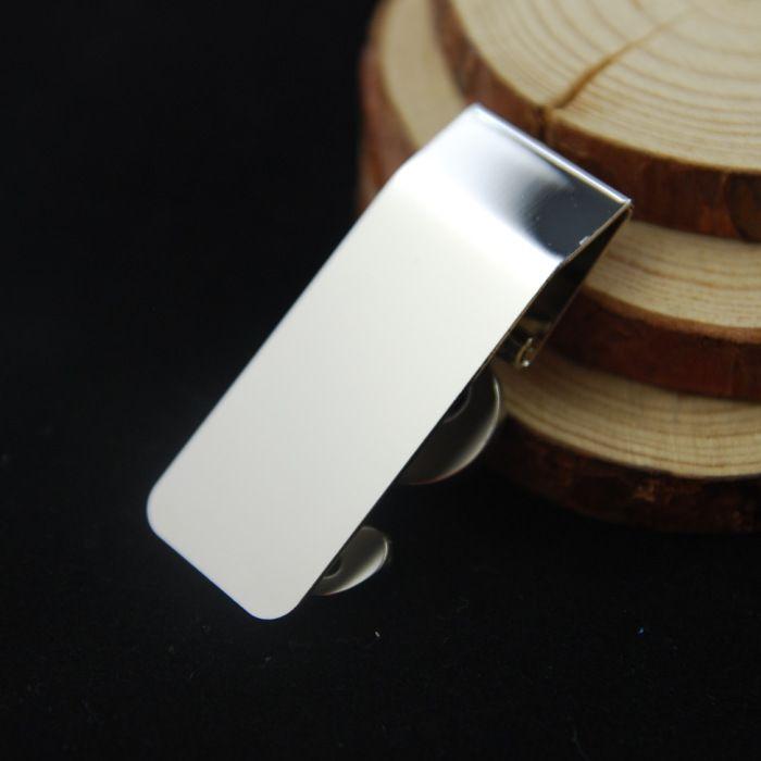 "2.28""*0.87"" US Dollar Sign Design Silver Stainless Steel Slim Money Clip Fashion Men'S Wallet Credit Card Holder Gift C106L"