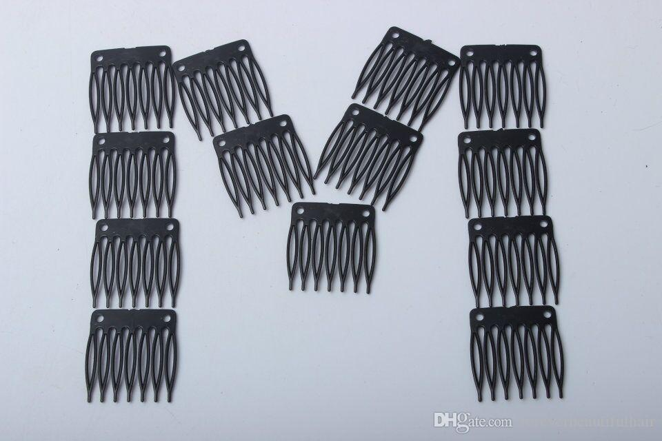 Wholesale Wig Accessories Seven tooth plastic comb 3.2cm*3.4cm Hair Wig Combs and Clips For Wig Cap