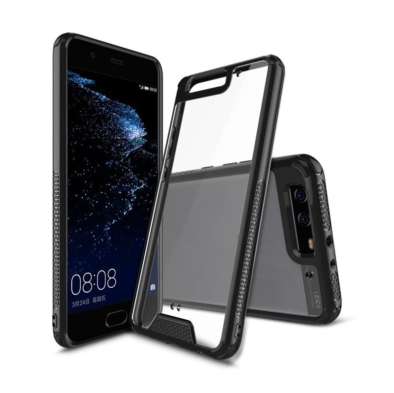 promo code 0fc24 b094a For Huawei P9 P10 plus mate 9 p8 lite Case drop durable Transparent Hard  Acrylic TPU Soft Silicone Back Cover For huawei Cases