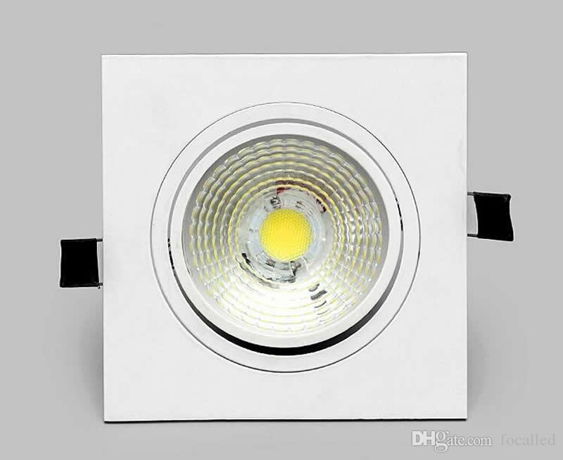 Led Tavan Işıkları COB kare LED downlight 10 W 15 W kısılabilir led gömme spot AC110v 220 v + led sürücü CE UL SAA