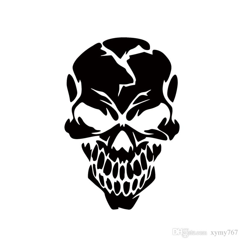 Ram Rebel Hat >> 2018 2017 Hot Sale Cool Graphics Skull Cracked Human Head Vinyl Decal Sticker Car Window ...