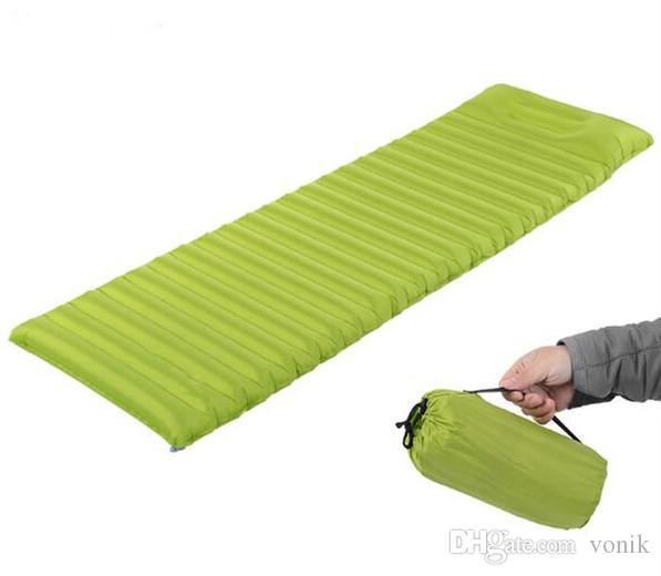 Sleeping Pad Thick Ultralight Lightweight Air Inflating Camping Mattress Camp Pad attached Pillow For Outdoor Camping Hiking Backpacking