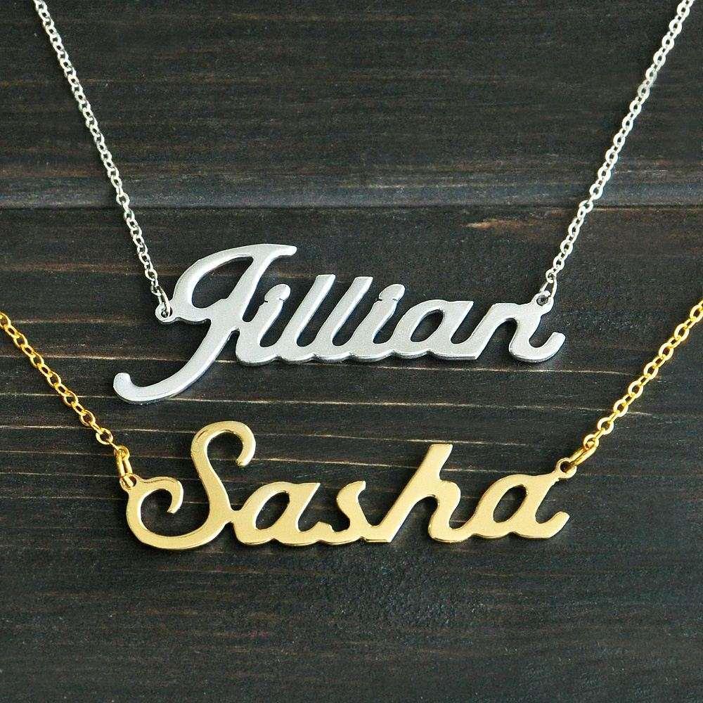 Großhandel Jeder Personalisierte Name Halskette Legierung Anhänger ...