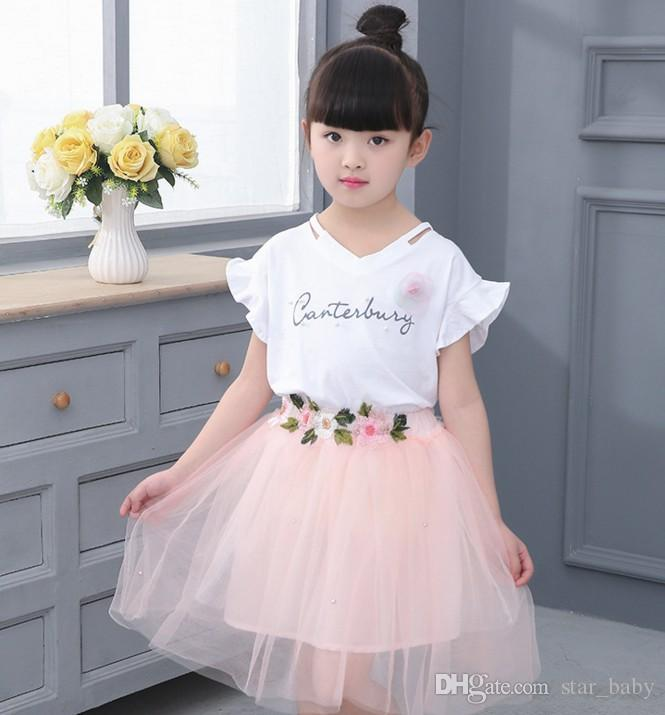 25b36cc2e3f2 Summer Princess Girls Dresses Princess Dress Suit 2017 Children ...