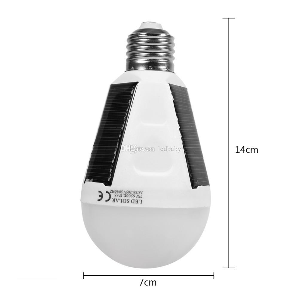 7W hängende Sonnenenergie-wieder aufladbare Not-LED Glühlampe-Tageslicht 6500K E27 IP65 wasserdichte Sonnenkollektoren