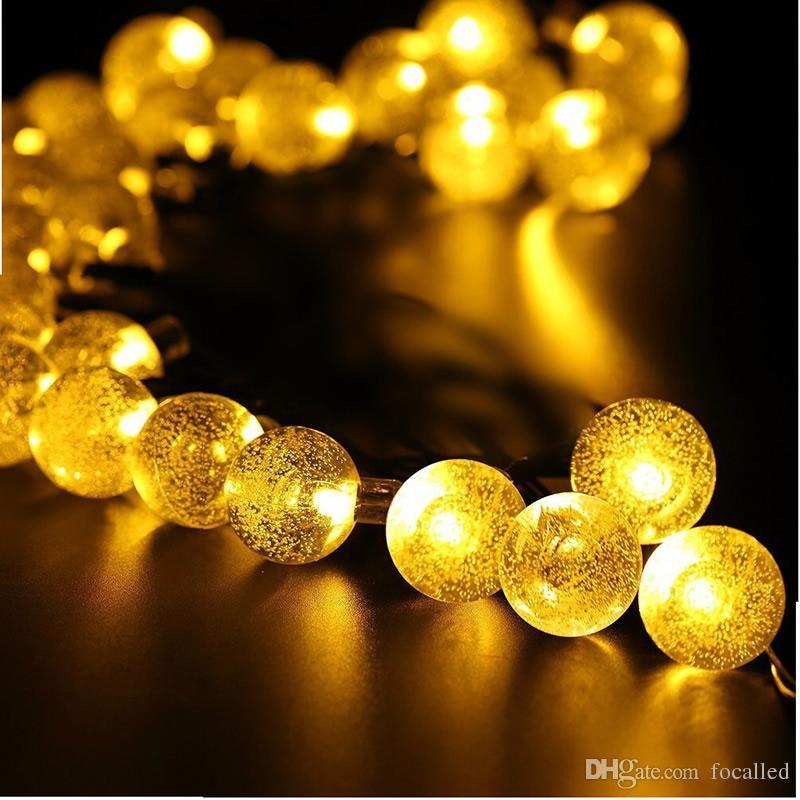 30 LED Outdoor Solar Lamps LED Globe ball String fairy light solar light christmas garland waterproof garden street decor Light