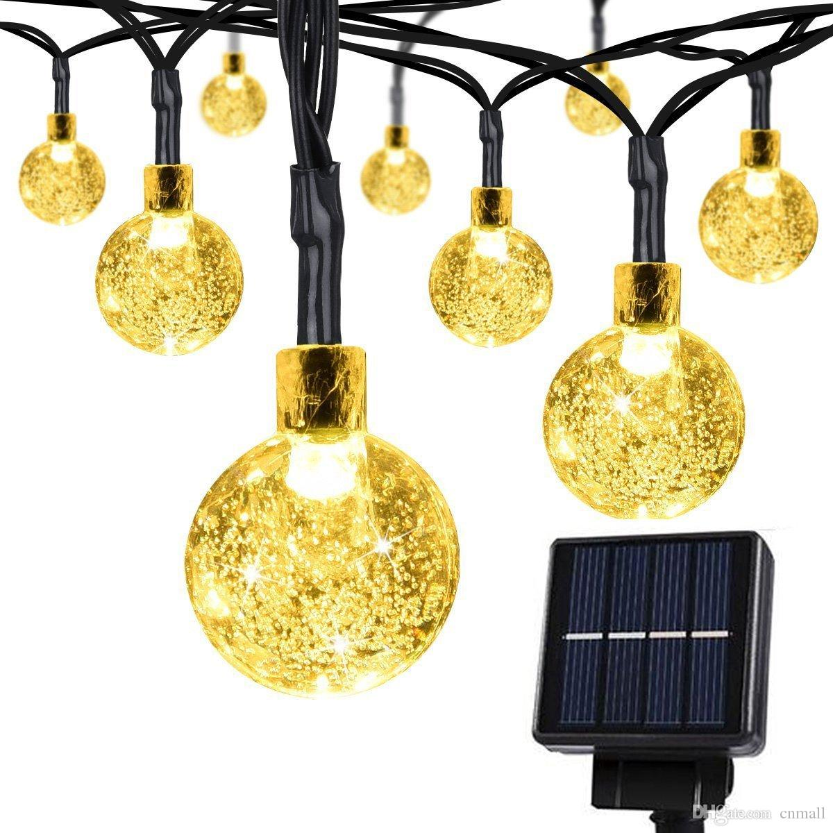 20 Ft 30 Crystal Balls Waterproof Led Fairy Lights Outdoor Starry ...