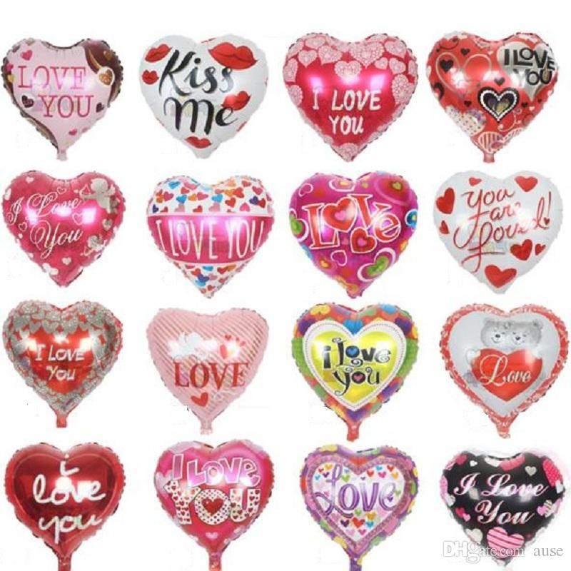 18u0027u0027 I Love You Balloons Valentine Day Wedding Decorations Party Supplies  Heart Shape Love Foil Balloons Globos Flower Balloons Balloon Sculpting  From Ause, ...